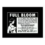 Plena floración - vitaminas de aumento del pecho tarjeta postal