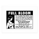 Plena floración - vitaminas de aumento del pecho tarjetas postales