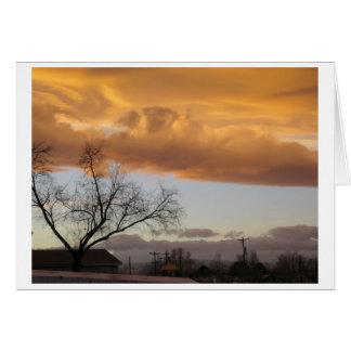 Pleno invierno V (notecard) Tarjeta De Felicitación