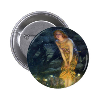 Pleno verano Eve con un anillo de hadas 1908 Pin Redondo De 2 Pulgadas