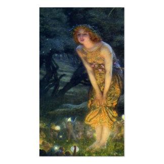 Pleno verano Eve con un anillo de hadas 1908 Tarjetas De Visita