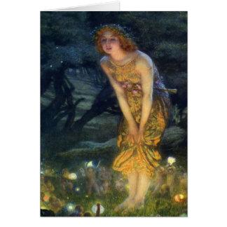 Pleno verano Eve con un anillo de hadas 1908 Tarjeta De Felicitación