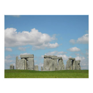 Pleno verano Stonehenge Póster