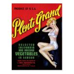"""""""Plenti Grand"""" Postcard"""