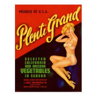 Plenty Grand Post Card