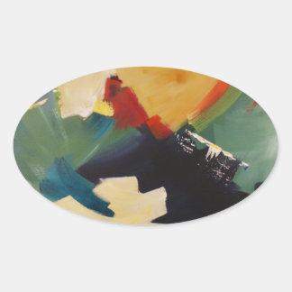 Plenty of Color Oval Sticker