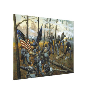 Plenty of Fighting Today by Keith Rocco Canvas Print