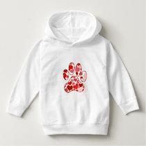 Plenty of Hearts Paw Print Pattern Hoodie