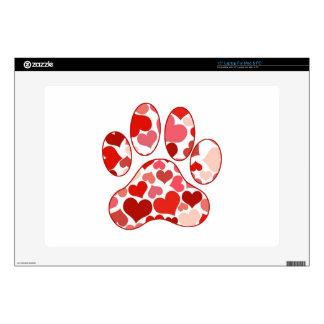 Plenty of Hearts Paw Print Pattern Skins For Laptops
