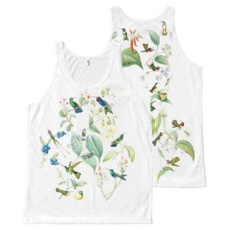 Plenty of Hummingbird Birds Wildlife Animal Floral All-Over Print Tank Top