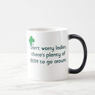 Plenty of Irish 11 Oz Magic Heat Color-Changing Coffee Mug