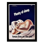Plenty Of Sleep Postcard