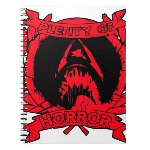 PlentyOfHorrorRed.png Spiral Note Books