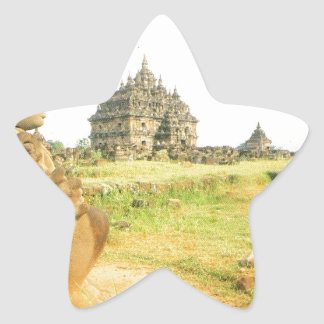 Pleosan Buddhist temple, Prabanam, Java, Indonesia Star Sticker