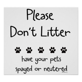 Plese Don apos t Litter 2 Posters