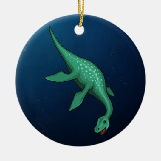 Plesiosaur Ceramic Ornament