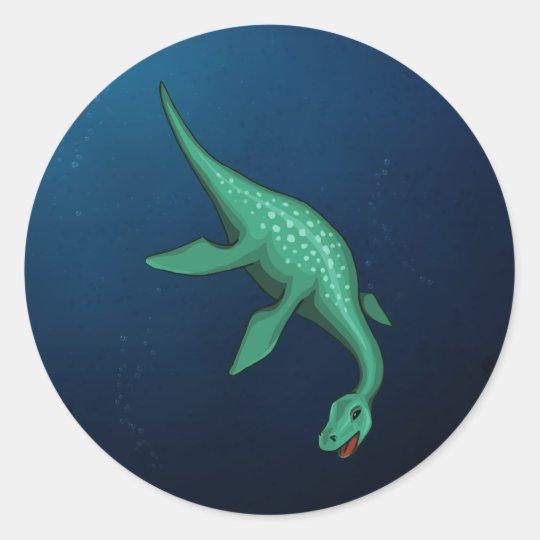 Plesiosaur Classic Round Sticker