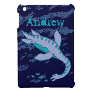 Plesiosaur embroma caja de la aguamarina azul del  iPad mini coberturas