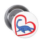 Plesiosaur Heart Button