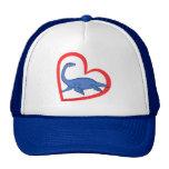 Plesiosaur Heart Mesh Hat