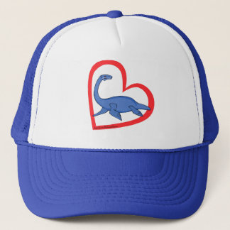 Plesiosaur Heart Trucker Hat