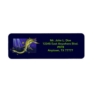 Plesiosaur Return Address Label