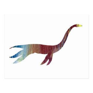 plesiosaur skeleton postcard