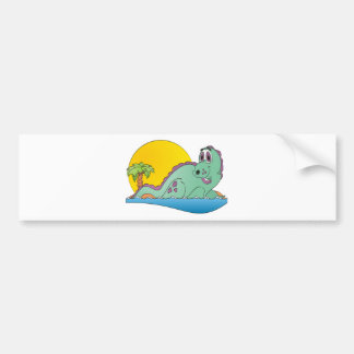 Plesiosaurus Cartoon Bumper Sticker