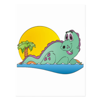 Plesiosaurus Cartoon Postcard