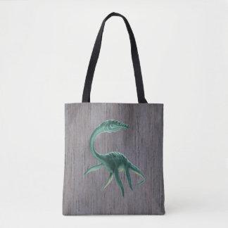 Plesiosaurus Dinosaur All-Over-Print Tote Bag
