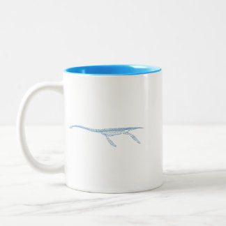 Plesiosaurus Two-Tone Coffee Mug