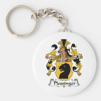 Plessinger Family Crest Keychain