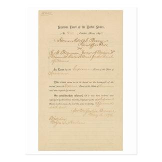 Plessy v. Ferguson 163 U.S. 537 (1896) Postcard