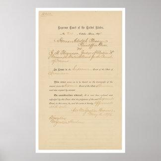 Plessy v. Ferguson 163 U.S. 537 (1896) Posters