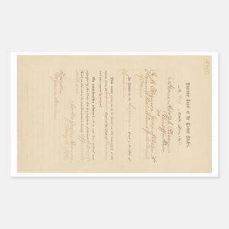 Plessy v. Ferguson 163 U.S. 537 (1896) Rectangular Sticker