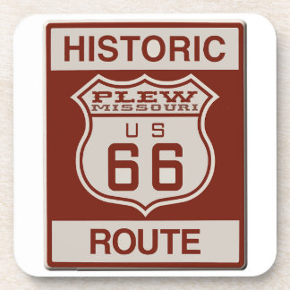 Plew Route 66 Drink Coaster