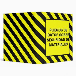 PLIEGOS DE  DATOS SOBRE  SEGURIDAD DE  MATERIALES BINDERS