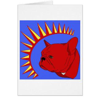 Pliegue del presidente tarjeta de felicitación