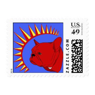 Pliegue del presidente timbre postal