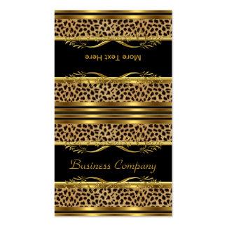 Pliegue el estampado de animales con clase del leo tarjetas de visita