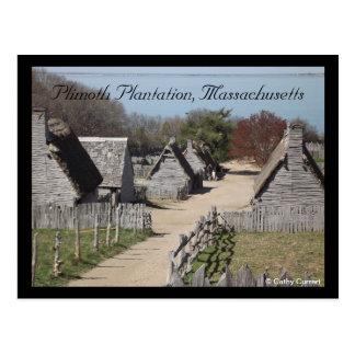 Plimoth Plantation, Massachusetts Postcard