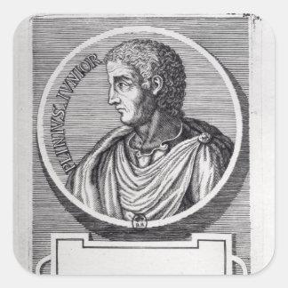 Plinio el más joven pegatina cuadrada