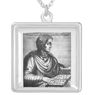 Pliny the Elder Silver Plated Necklace