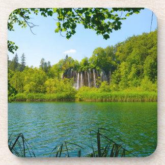 Plitvice Lakes National Park in Croatia Drink Coaster