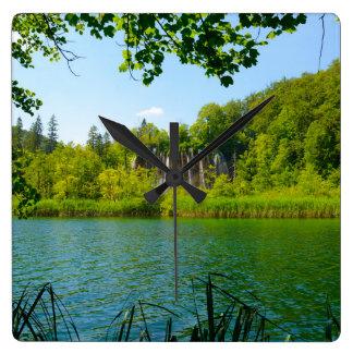 Croatian wall clocks zazzle plitvice lakes national park in croatia square wall clock sciox Image collections