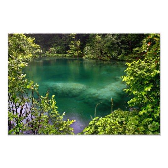 Plitvice lakes photo print