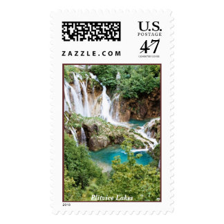 Plitvice Lakes Postage Stamp