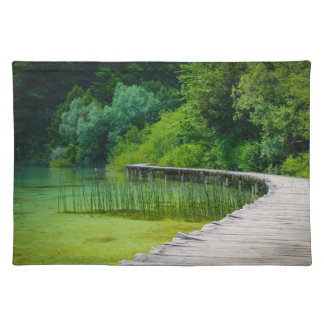 Plitvice National Park in Croatia Hiking Trails Cloth Placemat