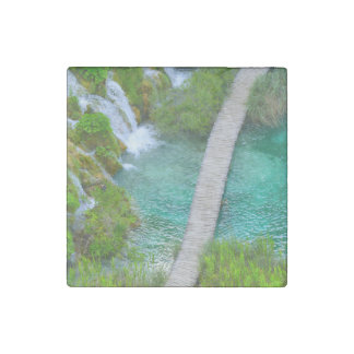 Plitvice National Park in Croatia Hiking Trails Stone Magnet