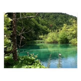 Plitvicer lakes Croatia blue lagoon Postcard